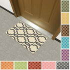 "Rubber Back Non-Slip Fancy Moroccan Trellis 18"" x 31"" Accent Rug Doormat NonSkid"