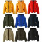 Ladies Thick Padded Double Collar Hooded Jacket Puffer Quilted Bubble Coat Size