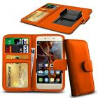 For alcatel Pop D3 - Clamp Style PU Leather Wallet Case Cover
