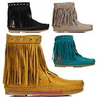 Boots low indianini suede women's shoes boots fringes new JH28-1