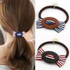 fashion Fabric Striped bow Scrunchie hair rope Ponytail Holder For Women Girl