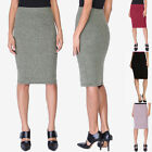 TheMogan Women's Contemporary Sweater Knit Bodycon Pull On Midi Pencil Skirt