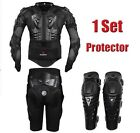 Motorcycle Body Armor Protective Jacket+ Gears Short Pants+protective Knee Pad