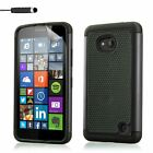Dual Layer Shockproof Case Cover for Lumia Phones + Screen Protector & Stylus
