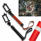 New Leather Extendable Wireless Bluetooth Selfie Monopod Holder Mount For iPhone