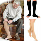 Zip-Up Compression Zip Leg Support Knee High Stocking Varicose socks Open Toe