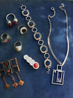 Vintage 60´s Germany Lot 8 Jewelry Rings Pentant Brooches Necklace #M