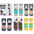 Cute Dog 3D Prints Striped Soft Socks Women Girl Cartoon Cotton Casual Socks