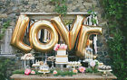 """42""""HUGE GOLD LETTER USA Foil Balloon Wedding Birthday Number Party Supplies lot"""