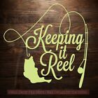 Keeping it Reel Fishing Pole and Fish on Line Wall Art Decal Stickers