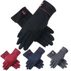 US Womens Men Outdoor Warm Gloves Driving Screen Touch Suede Xmas Gloves Mittens