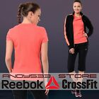 Reebok T Shirt Women Elements Crew Slim Tee PlayDRY Soft Organic COTTON Top XS S