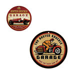 """Busted Knuckle Garage 10"""" round Wood Signs plaques Man Cave"""