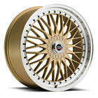 NEW (Set of 4) 17X7.5 SPEC-1 style # 3S rims 5x100 5x114.3 +38 gold finish