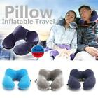 Pliable U Forme Oreiller Gonflable Air Couchage Support Cou Tête Voyage Camping