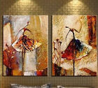 2 pieces Large Modern Abstract Art Oil Painting Wall Decor canvas