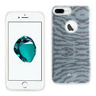 Apple iPhone 7 Case - Glitter Tiger Hybrid Cover Blue/Gray/Pink/Purple/Gold