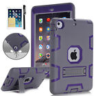 Hybrid Rubber Shock Proof Heavy Duty Hard Case Cover For iPad Mini Air iPad Pro