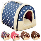 Fashion Pet Puppy Dog Portable House Cat Foldrable Kennel Nest Bed Warm Mat Pad