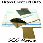 Solid Brass Sheet Guillotine Off Cuts Mixed Sizes & Thickness Be Quick BARGAIN £