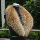 Women&Men 100% Real Raccoon Fur Collar Genuine Raccoon Scarf Shawl Wrap For Coat