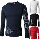 Fashion Mens Slim Fit Casual Shirt T-Shirt Long Sleeve Cotton Men T-Shirts Tops