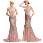 Womens Long Formal Evening Gown Party Wedding Prom Bridesmaid Banquet Maxi Dress