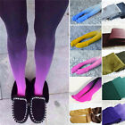 Women Fading Gradient Stretch Tights Ombre Colored Watercolor Velvet Stocking EW