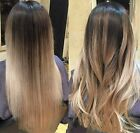 One Piece Ombre Balayage Half Full Head Clip in Hair Extensions Black Blonde