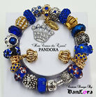 Here Comes the Queen-Royal Blue Authentic Pandora Sterling Silver Chain w/ Charm