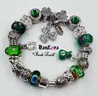 """""""Irish Luck"""" Money Bag,Authentic Pandora Sterling Silver Chain w/ Charm-In Photo"""