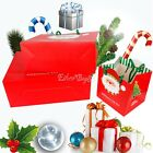 Christmas Santa Claus Handbag Xmas Holiday Decor Wedding Candy Gift Paper Bags