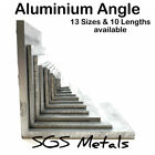 Aluminium Equal Angle 13 Sizes to Choose from & 10 Popular Lengths