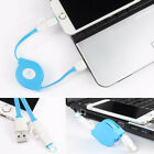 2 in 1 Retractable USB Fast Charging Sync Data Cable 8 Pin For iPhone Android