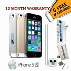 Apple iPhone 5S 32GB - Gold /Silver /Grey - Unlocked To All Networks Smartphone