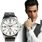 2016 Men's Sports Watches Men Watches Luxury Leather Quartz Wristwatches Relogio