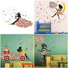 Flower Girl Removable Wall Art Sticker Vinyl Decal Kids Room Home Mural Decor