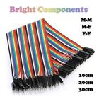 Dupont Jumper Ribbon Cable : M-M/M-F/F-F:10cm/20cm/30cm:Arduino - 1st CLASS POST