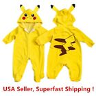 Внешний вид - Pokemon Go Toddlers Infant Baby Boy Girls Coat Pikachu Outfit Jumpsuit Romper