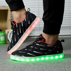 Unisex Fashion LED Light USB Charger Lace Up Shoes Flashing Sneakers Trainers