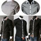 Mens Casual Shirt Wedding Formal Business Dress Shirts Luxury Design Size S~L