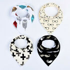 4Pcs/Set Baby Kids Bandana Bibs Feeding Saliva Towel Dribble Triangle Useful