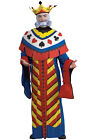 Brand New Playing Card King Mardi Gras Adult Costume