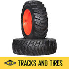 2 New 10-16.5 (10x16.5) Galaxy Skiddo Skid Steer Tires - Choose Your Rim Color