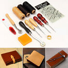13Pcs/Set Leather Craft Hand Tool Stitching Sewing Tools Thread Awl Thimble Kits