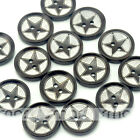 20/100 pcs Brown Star Wooden Round Buttons Lot 20mm 2 holes Craft/Kids Sewing