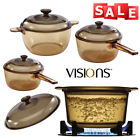 Visions Oven Saucepan Casserole Covered With Glass Lid Cooking Ktchen Pot