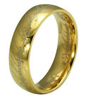 Titanium Ring Wedding LOTR Lord of Rings Engagement Matching Gold Plated SZ 6-15