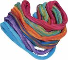 FAIR TRADE COTTON KNIT DOUBLE WRAP SEAMLESS HIPPY BOHO STRETCH HAIR BANDS TIES