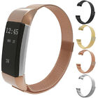 Magnetic Milanese Stainless Steel Wristwatch Mesh Band Strap for Fitbit Charge 2